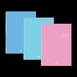 สมุดริมลวดB5 70G 60S วีนัส101คละสี ตราช้าง