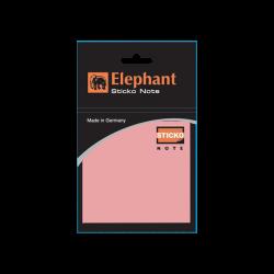 กระดาษโน๊ตกาวในตัว สีชมพู 3X3 (ชนิดถุง) ตราช้าง