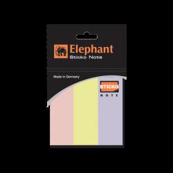 กระดาษโน้ตกาวในตัว สีพาสเทล 1X3 นิ้ว ตราช้าง