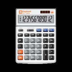 เครื่องคิดเลข รุ่น L01-12D เงิน ตราช้าง