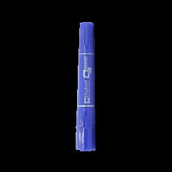 ปากกาเคมี 2 หัว น้ำเงิน ตราช้าง