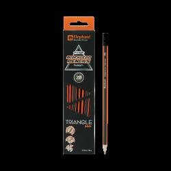 ดินสอ 2B สามเหลี่ยม พรีเมี่ยม-พี02 ตราช้าง