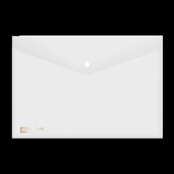 แฟ้มกระเป๋าซองกระดุม1เม็ด421Fขาว ตราช้าง