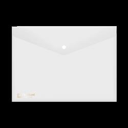 แฟ้มกระเป๋าซองกระดุม1เม็ด421A4ขาว ตราช้าง